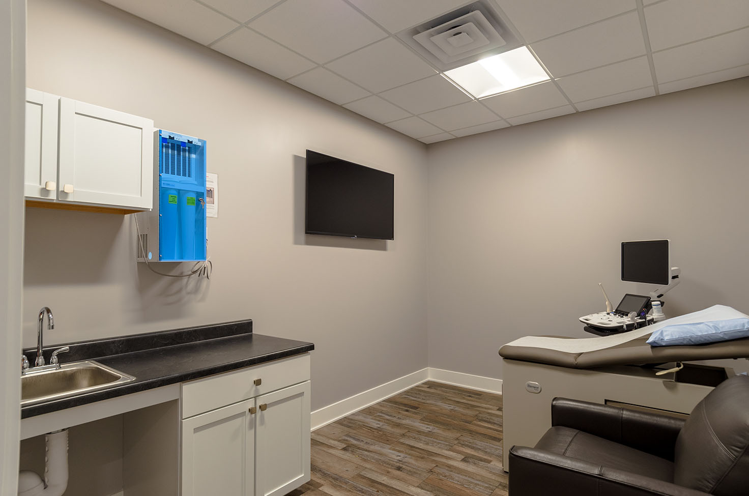 Exam Room at Women's Healthcare Clinic